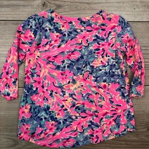 Lilly Pulitzer Shirts & Tops - LILLY PULITZER size 4 to 5 button 3/4 sleeve shirt